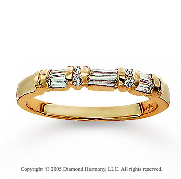 14k Yellow Gold Fine Channel Diamond Anniversary Band