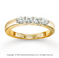 14k Yellow Gold 4 Stone 1/2 Carat Diamond Anniversary Band