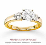 14k Yellow Gold Side Stone Prong Diamond Engagement Ring
