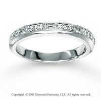14k White Gold Prong Bezel Diamond Anniversary Band