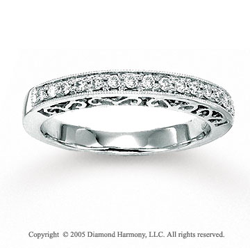 14k White Gold Prong 0.20 Carat Diamond Anniversary Band