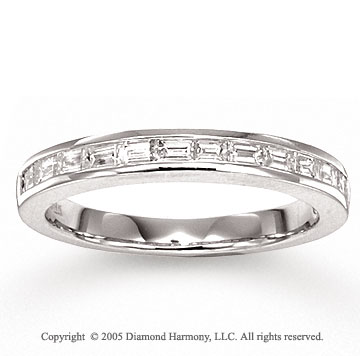 14k White Gold Channel 1/2 Carat Diamond Anniversary Band