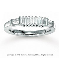 14k White Gold Elegant 2/3 Carat Diamond Anniversary Band