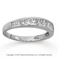 14k White Gold Princess 0.70 Carat Diamond Anniversary Band