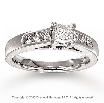 14k White Gold 1.00 CaratW Diamond Engagement Ring
