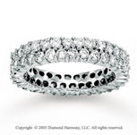 14k White Gold Double Row 2.25 Carat Diamond Eternity Ring
