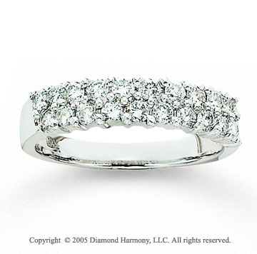 14k White Gold Prong 0.80 Carat Diamond Anniversary Band