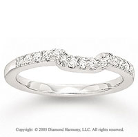 14k White Gold Prong 1/4 Carat Diamond Wedding Ring