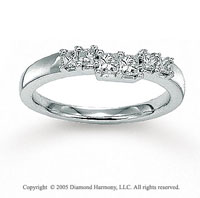 14k White Gold Princess 1/2 Carat Diamond Wedding Ring