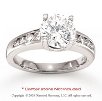 14kW Gold Side Stone 1/2 Carat Diamond Engagement Ring