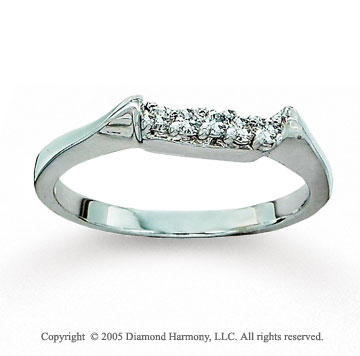 14k White Gold Prong Diamond 1/6 Carat Diamond Wedding Ring