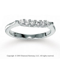 14k White Gold Round 1/3 Carat Diamond Wedding Ring