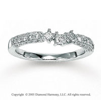 14k White Gold Prong Princess Diamond Wedding Ring