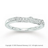 14k White Gold Pave Bezel 0.20 Carat Diamond Anniversary Band