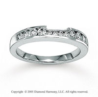 14k White Gold Channel 1/2 Carat Diamond Wedding Ring