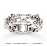 14k White Gold 0.80 CaratW Diamond Ring