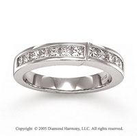 14k White Gold Channel 3/4 Carat Diamond Anniversary Band