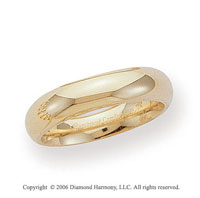 14k Yellow Gold 5mm Heavy Comfort Fit Domed Wedding Band