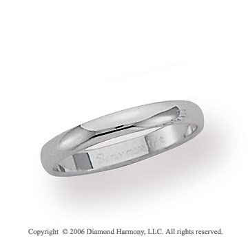 Palladium 3mm Plain Domed Standard-F Wedding Band
