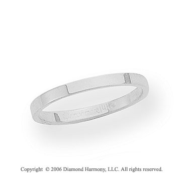 Platinum 2mm Flat Standard Fit Wedding Band