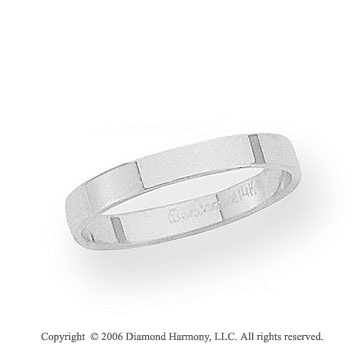 Platinum 3mm Flat Standard Fit Wedding Band