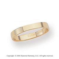 14k Yellow Gold 3mm Flat Standard Fit Wedding Band