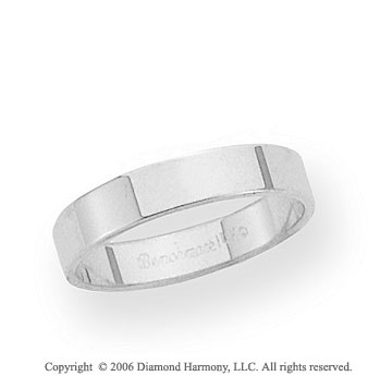 Platinum 4mm Flat Standard Fit Wedding Band