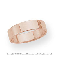 14k Rose Gold 5mm Flat Standard Fit Wedding Band