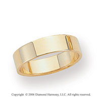 14k Yellow Gold 5mm Flat Standard Fit Wedding Band