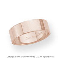 14k Rose Gold 6mm Flat Standard Fit Wedding Band