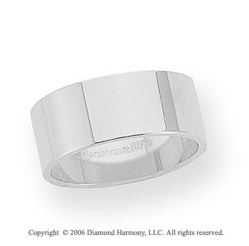 Platinum 8mm Flat Standard Fit Wedding Band