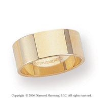 14k Yellow Gold 8mm Flat Standard Fit Wedding Band