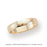 14k Yellow Gold 4mm Light S-Fit Rounded Wedding Band