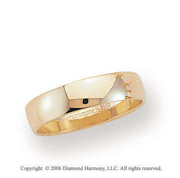 14k Yellow Gold 5mm Light S-Fit Rounded Wedding Band
