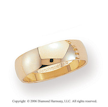 14k Yellow Gold 6mm Light S-Fit Rounded Wedding Band