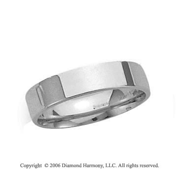 Palladium 4mm Flat Comfort Fit Wedding Band