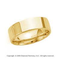 18k Yellow Gold 6mm Flat Comfort Fit Wedding Band