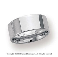 Palladium 8mm Flat Comfort Fit Wedding Band