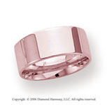 18k Rose Gold 8mm Flat Comfort Fit Wedding Band