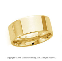18k Yellow Gold 8mm Flat Comfort Fit Wedding Band