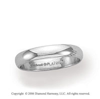 Platinum 3mm Standard Fit Plain Domed Wedding Band
