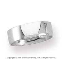 Platinum 8mm Flat Comfort Fit Plain Wedding Band