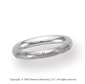 Platinum 3mm Domed Comfort Fit Wedding Band