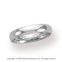 Platinum 4mm Domed Comfort Fit Wedding Band