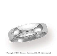 Platinum 5mm Domed Comfort Fit Wedding Band