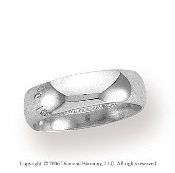 Platinum 6mm Domed Comfort Fit Wedding Band