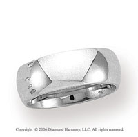 Platinum 8mm Domed Comfort Fit Wedding Band