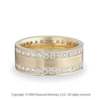 14k Yellow Gold Eternity C/F 1.5 Carat Diamond Wedding Band