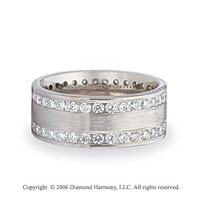 Platinum Eternity C/F 1 1/2  Carat Diamond Wedding Band
