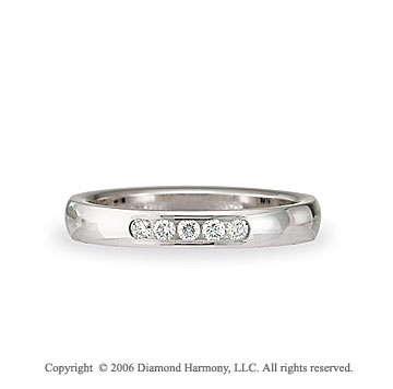 Platinum Standard Fit Channel Diamond Wedding Band